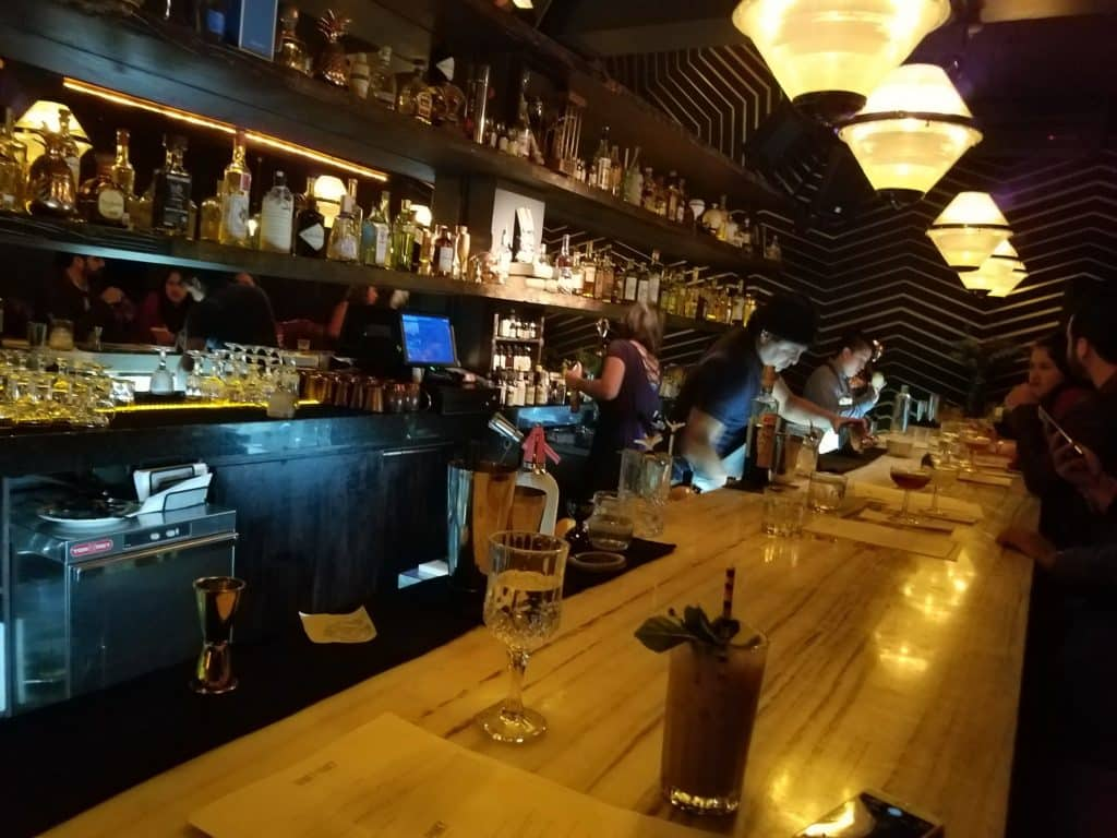 Interior of Hanky Panky bar in Mexico City