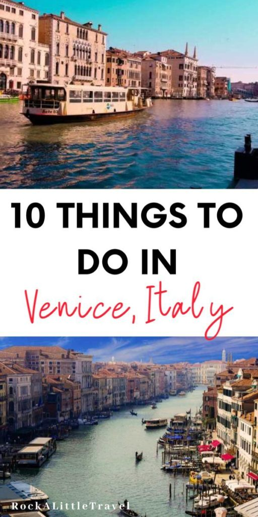 Things to do in Venice Pinterest Pin