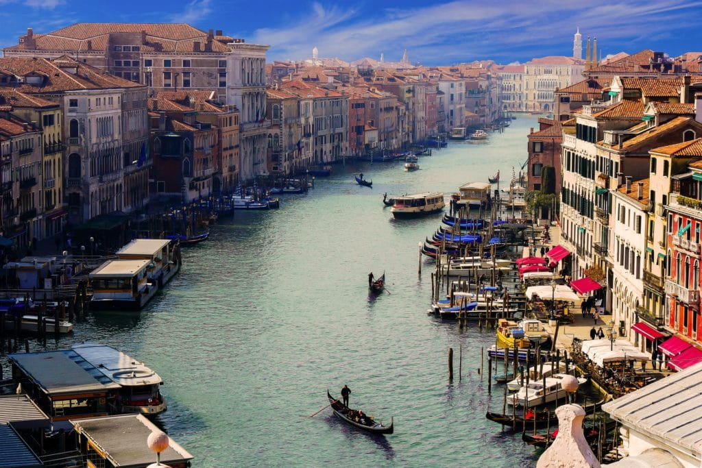 Aerial Image of the Grand Canal in Venice