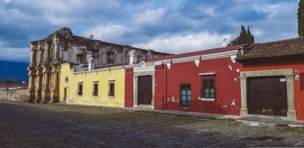 Colorful streets of Antigua Guatemala