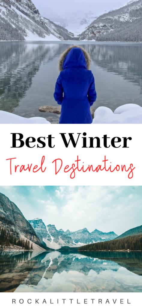 Winter weekend getaway destinations Pinterest Pin