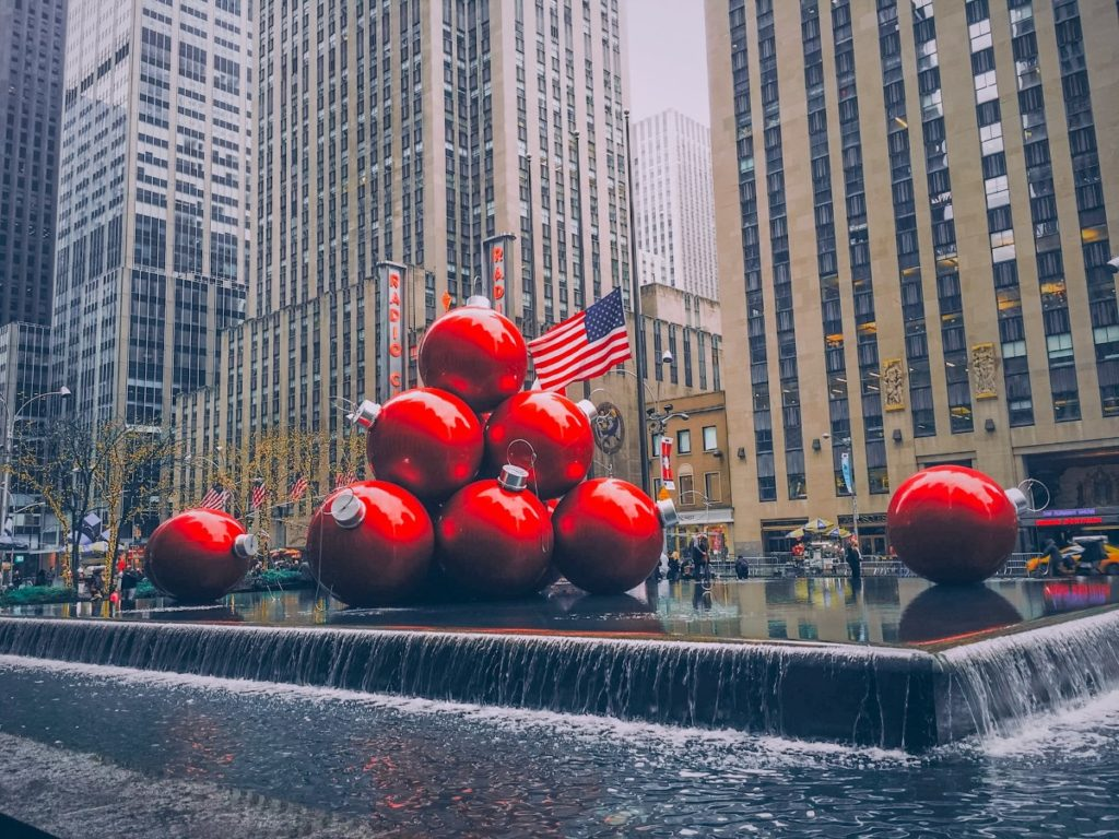 Christmas decorations in NYC