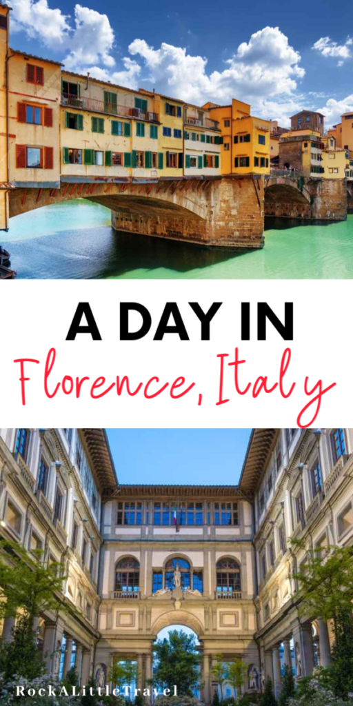Florence in a Day Pinterest Pin