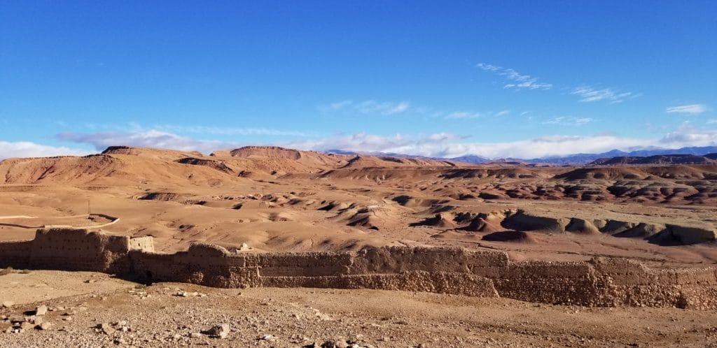 Desert near Ait ben Haddou Ouarzazate Morocco
