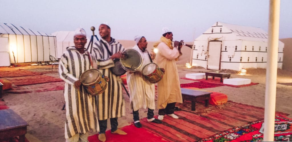 Berber music at Sahara Desert Camp