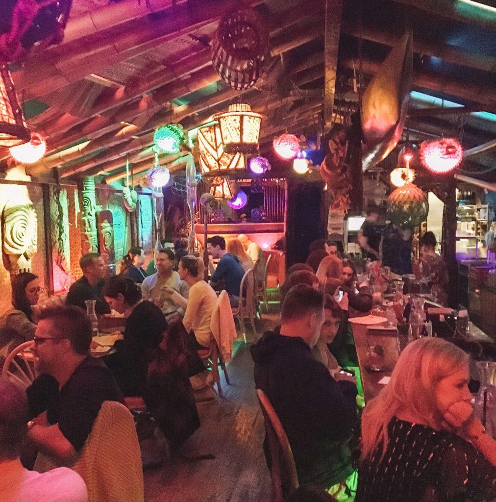 Interior of Hale Pele tiki bar