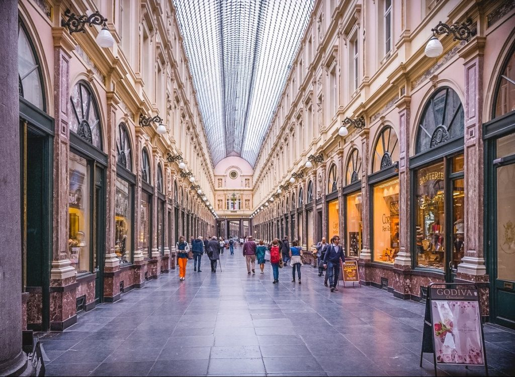 galeries royales saint in Brussels Belgium