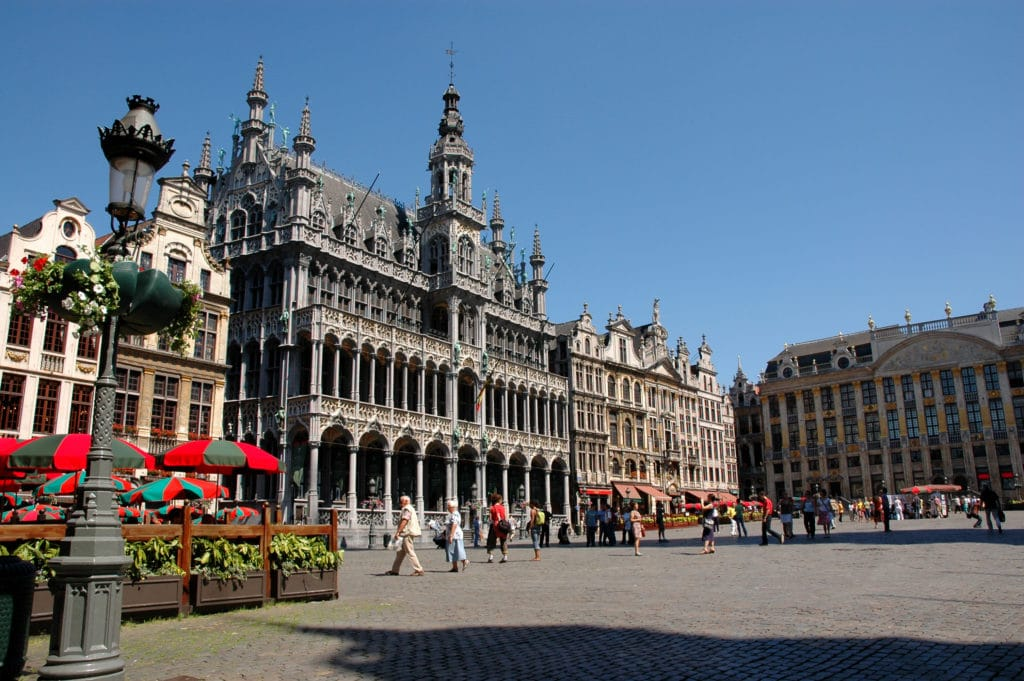 A view of the Grand Place in Brussels, Belgium.