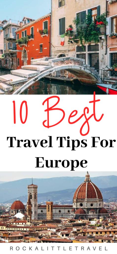 Travel Tips for Europe Pinterest Pin