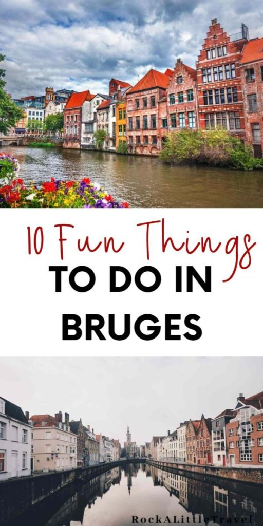Things to do in Bruges Pinterest Pin