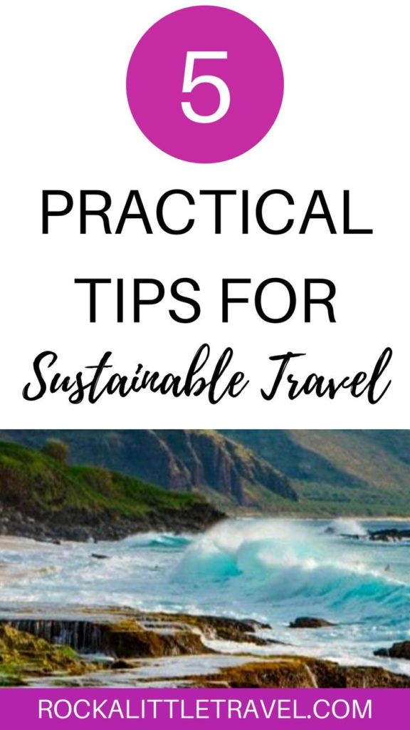 5 Practical Tips for More Sustainable Travel  Pinterest Pin