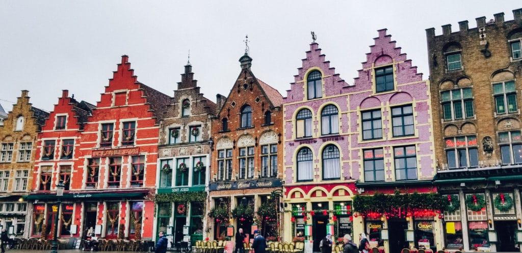 Cafes in Bruges, Belgium