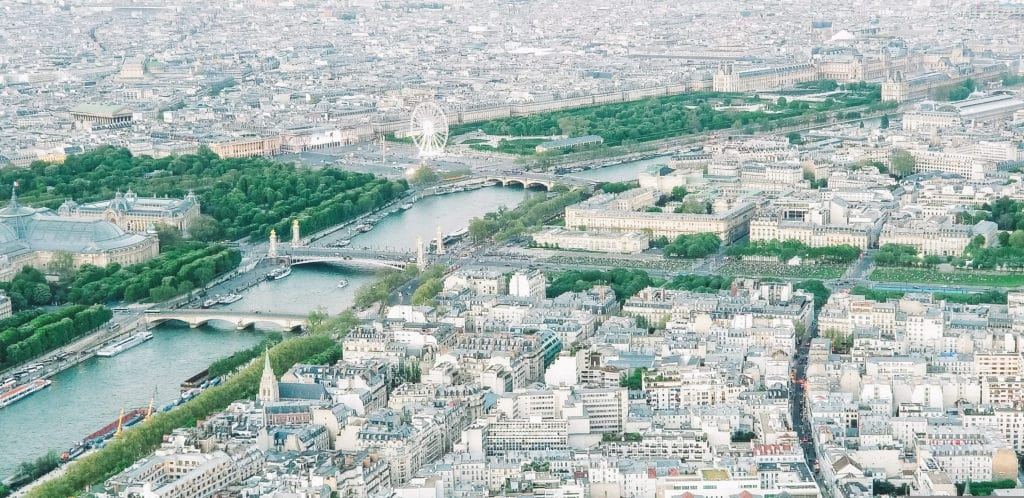 Paris from the top of the Eiffel Tower