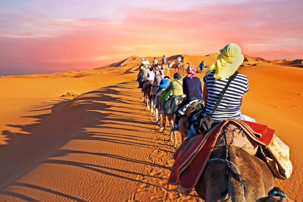 desert camping in Morocco