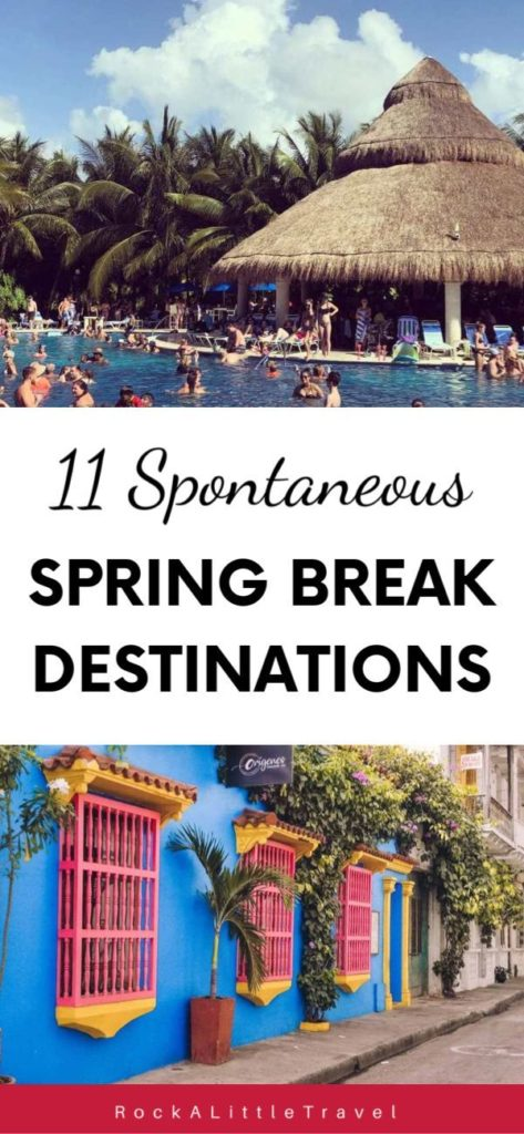 Spring Break Getaways Pinterest Pin