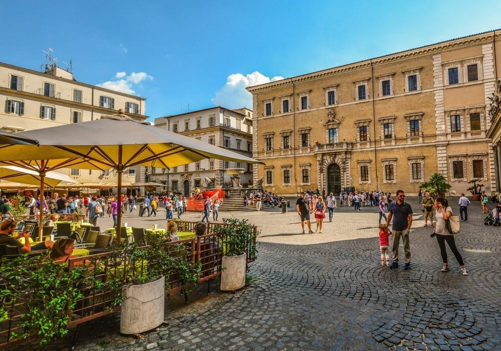 Piazza Santa Maria, Trastevere, Rome, Italy