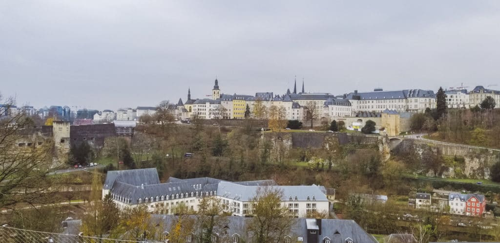 View overlooking Luxembourg City