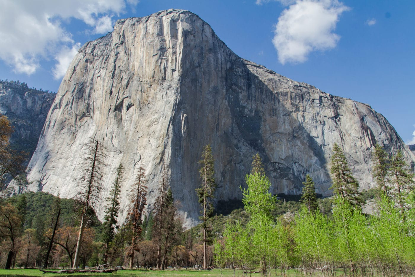 View of El Capitan in Yosemite Valley