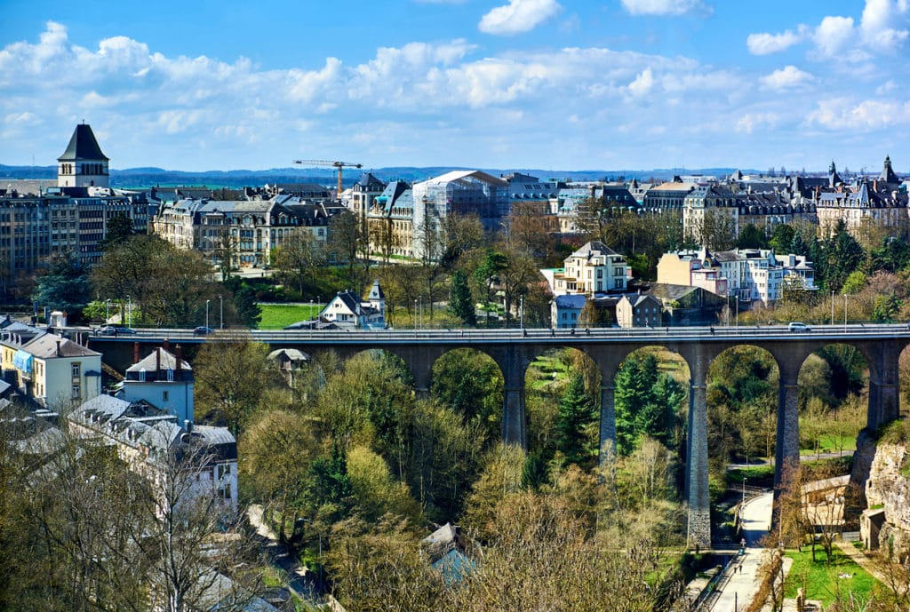 Passerelle Bridge in Luxembourg City - 2020 Luxembourg
