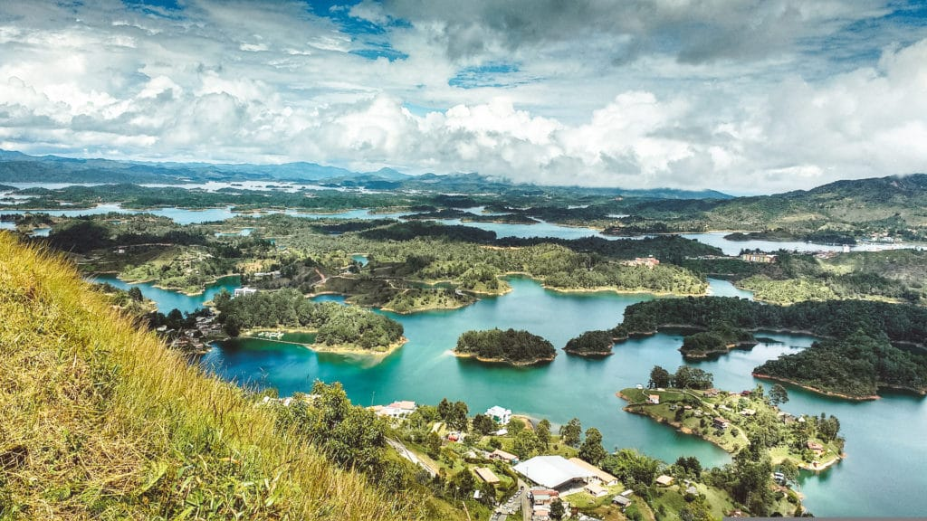 Guatape Lake in Guatape Colombia
