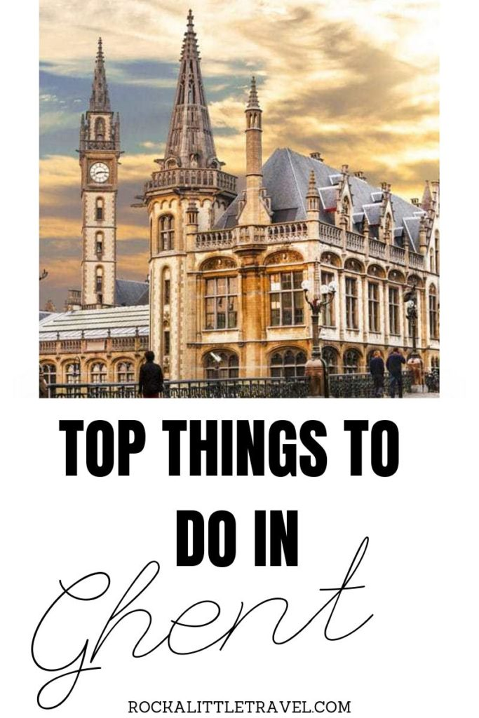 One day in Ghent - Pinterest Pin