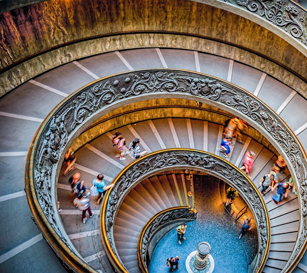 Staircase at Vatican Museum