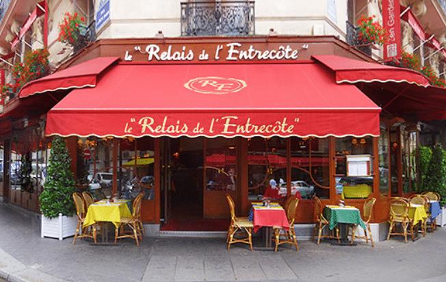 Exterior shot of Le Relais de L'Entrecote