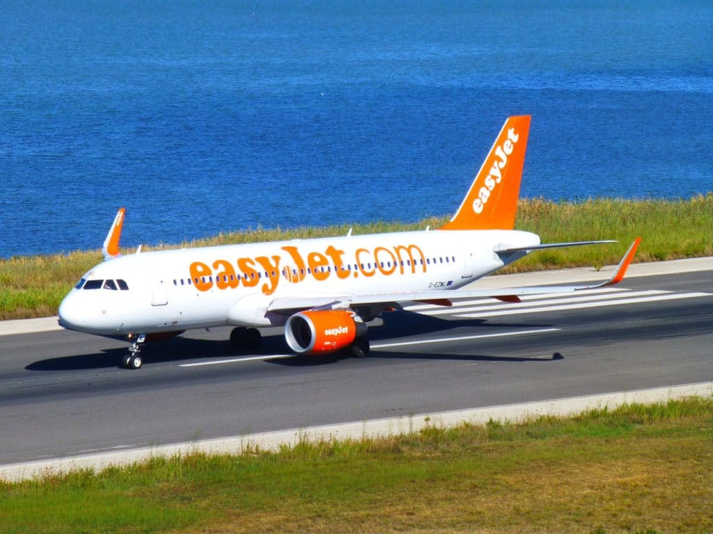 Easy Jet sitting on a runway