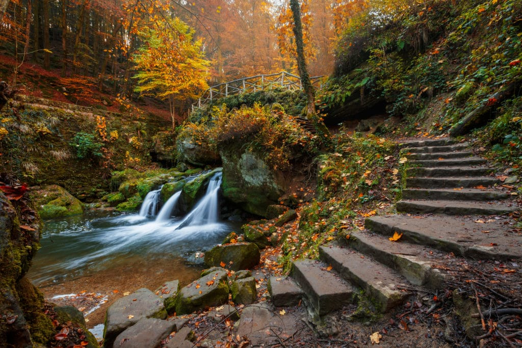Mullerthal Waterfall, Luxembourg