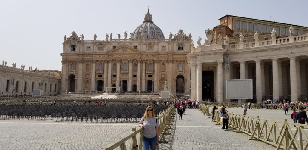 Eden Fite at St. Peter's Basilica, Vatican City, Rome, Italy