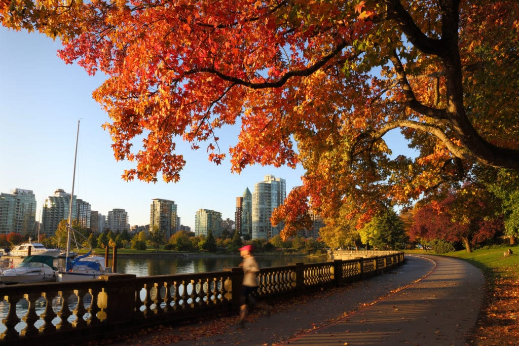 Stanley Park, Vancouver, in Autumn