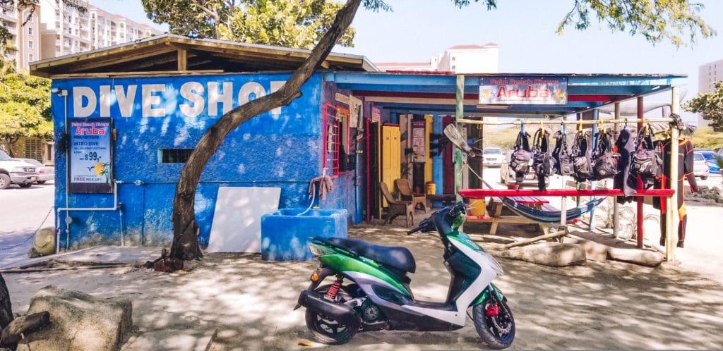 Dive shop, Aruba