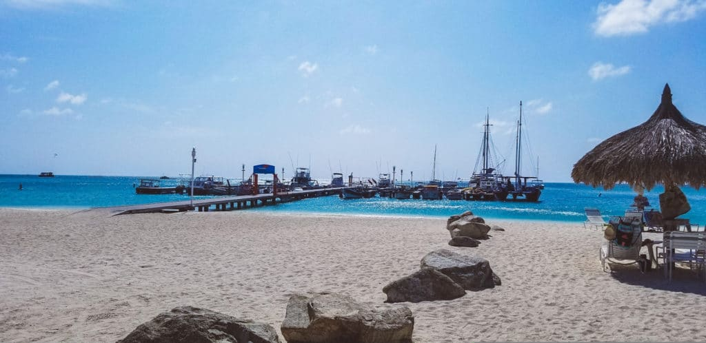 Dock at Palm Beach, Aruba
