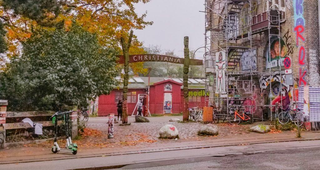 Christiania sign in Copenhagen, Denmark