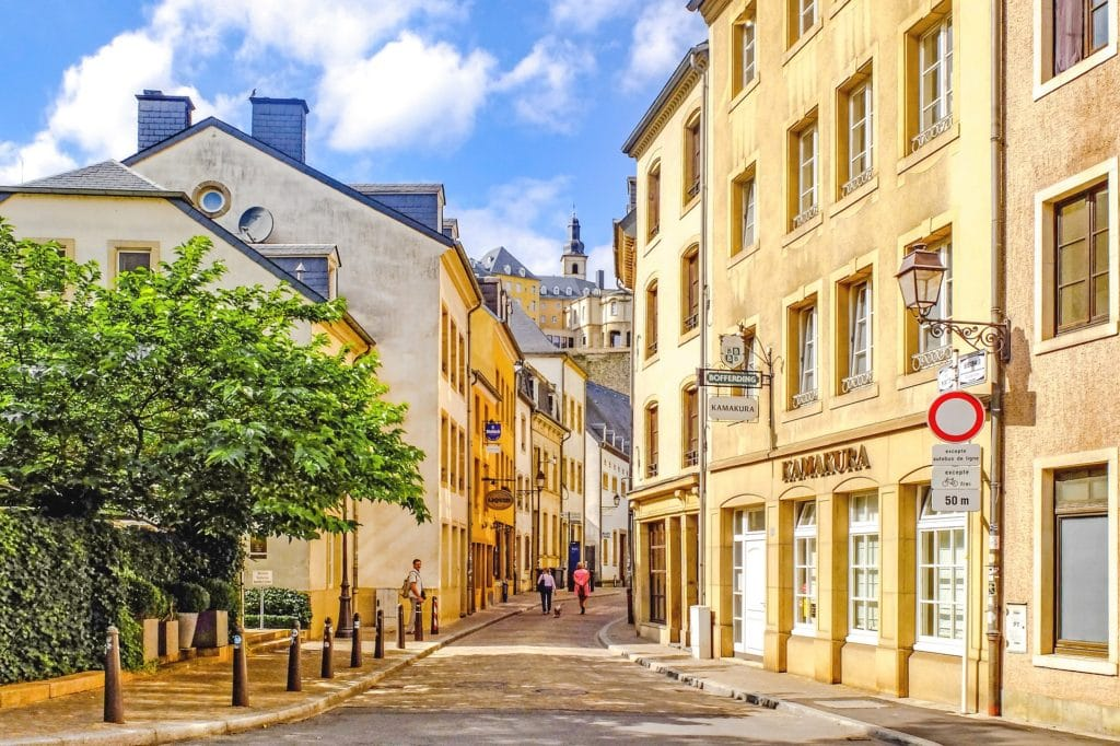 Luxembourg City street - Luxembourg March