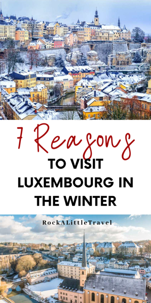 Luxembourg in Winter Pinterest PIn