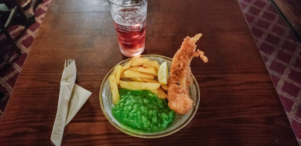Fish and Chips from a local pub in London