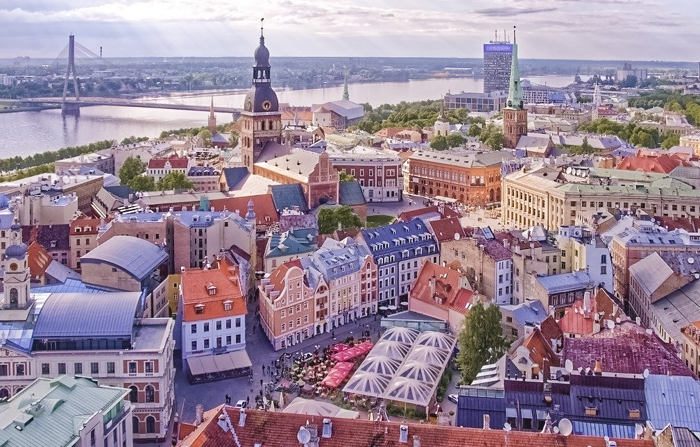 Aerial view of Riga - Where to eat in Riga