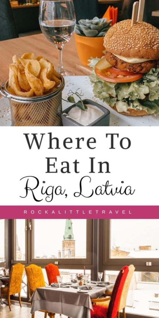 Where to eat in Riga Pinterest Pin