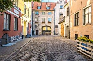 Swedish Gate in Riga, Latvia