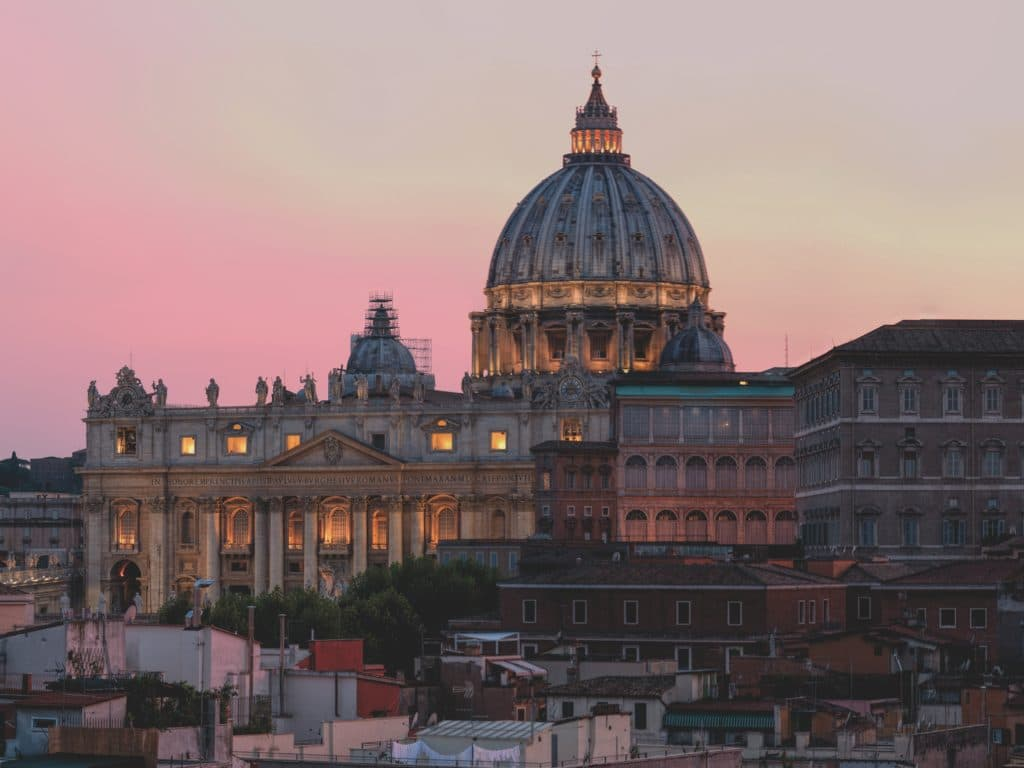 Dusk overlooking Vatican City