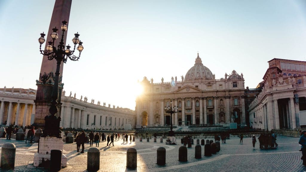 Sunrise at St. Peter's Square in Vatican City
