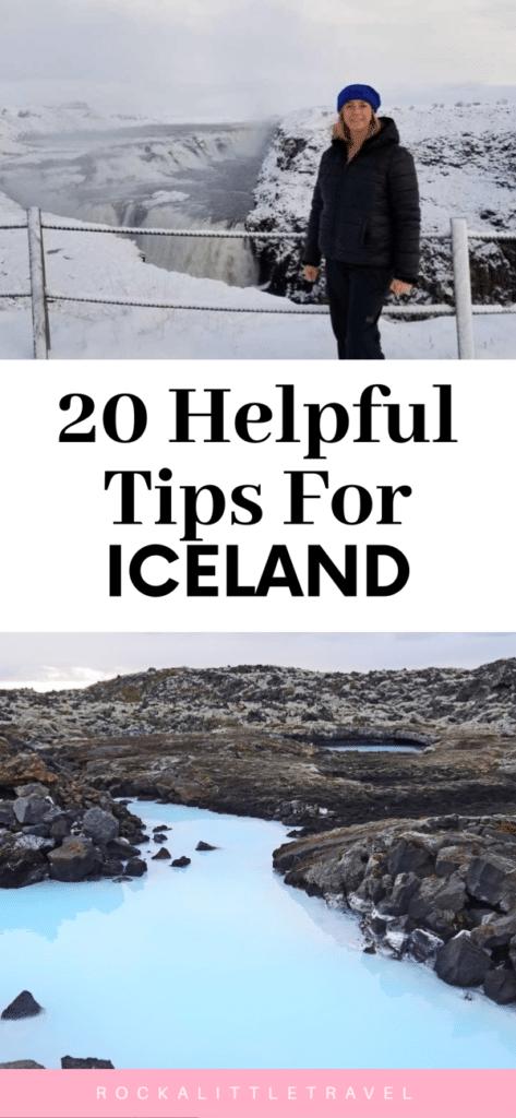 Travel tips for Iceland Pinterest Pin