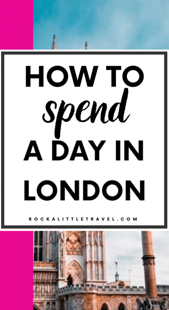 London in a Day Pinterest Pin