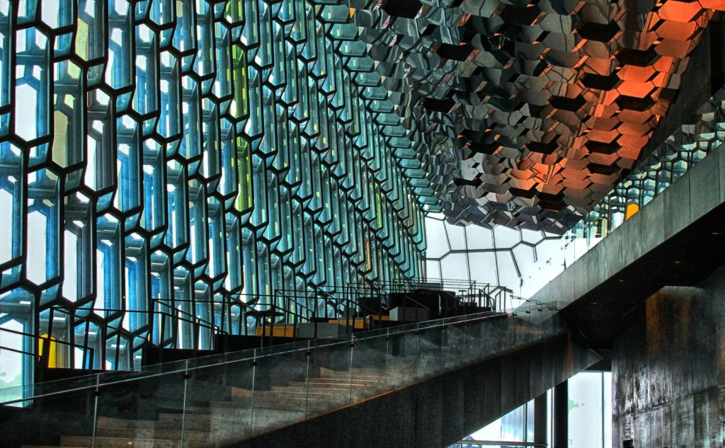 Interior of Harpa Concert Hall