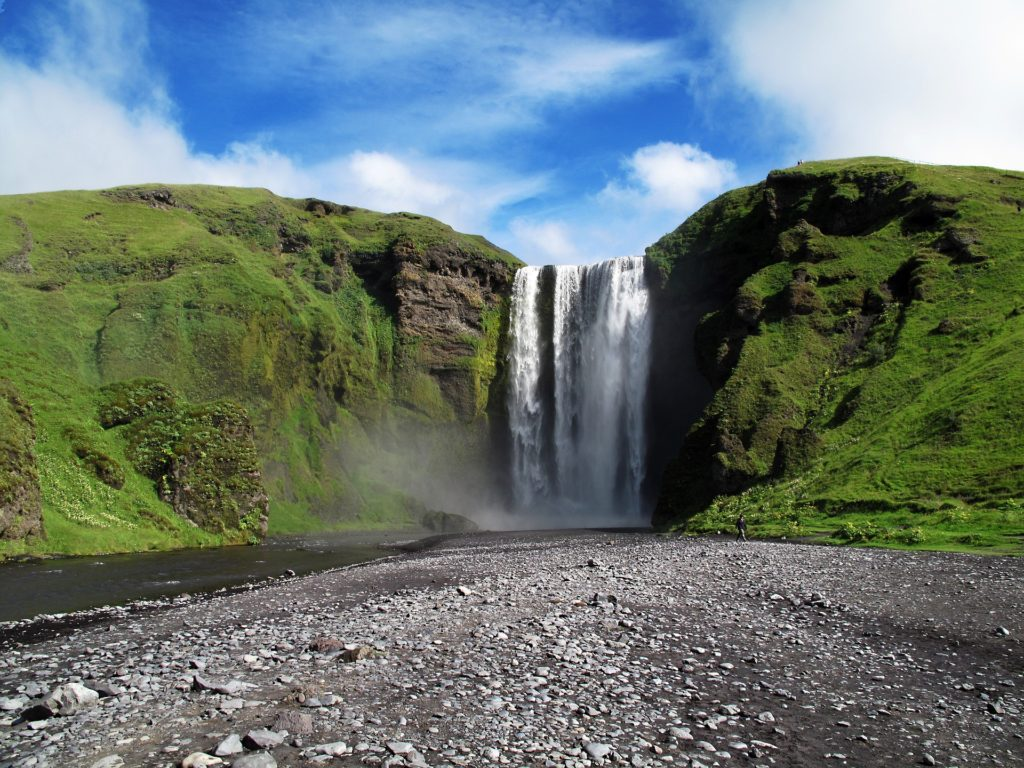 Skogafoss waterfall day trips from Iceland