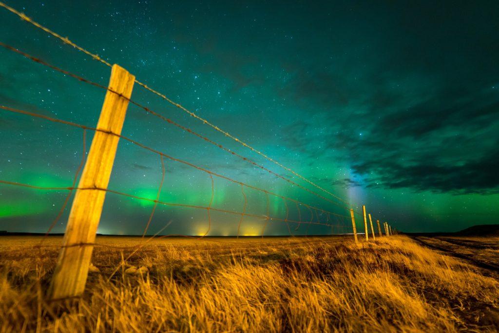One day in Reykjavik northern lights
