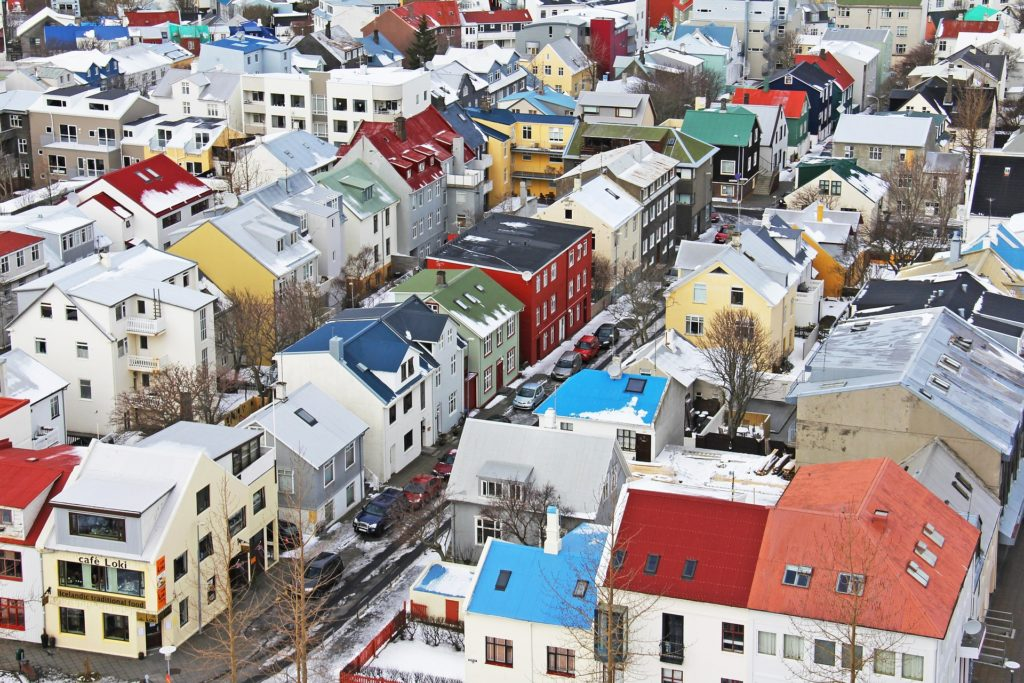 Colorful houses in Reykjavik