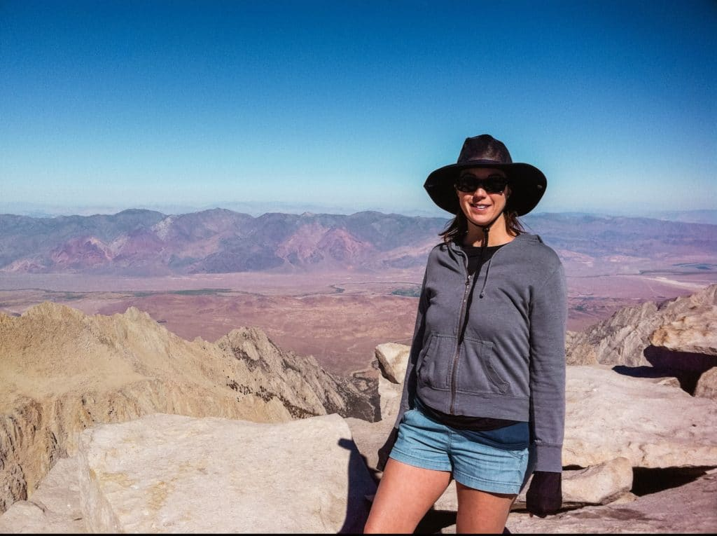 Eden Fite at the summit of Mt. Whitney - travel fails