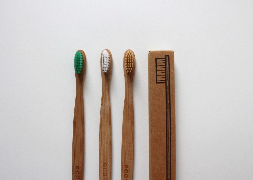 Bamboo toothbrushes for travel